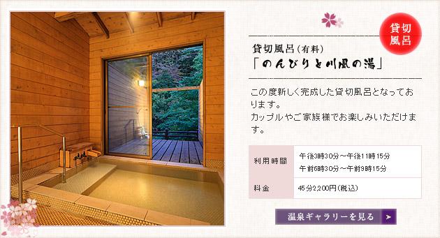 貸切風呂 「のんびりと川風の湯」